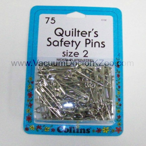 Collins Safety Pins Size 2 75pck