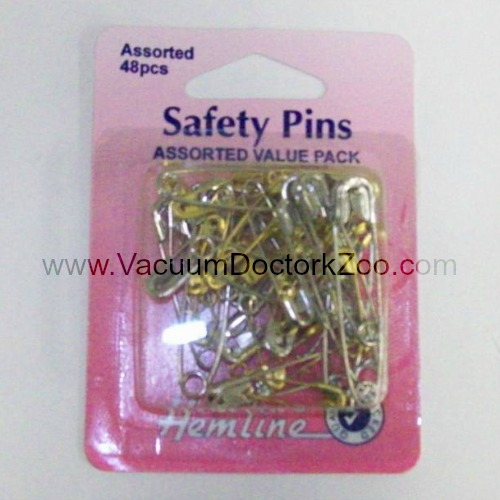 Safety Pins Assorted Value Pack - Brass