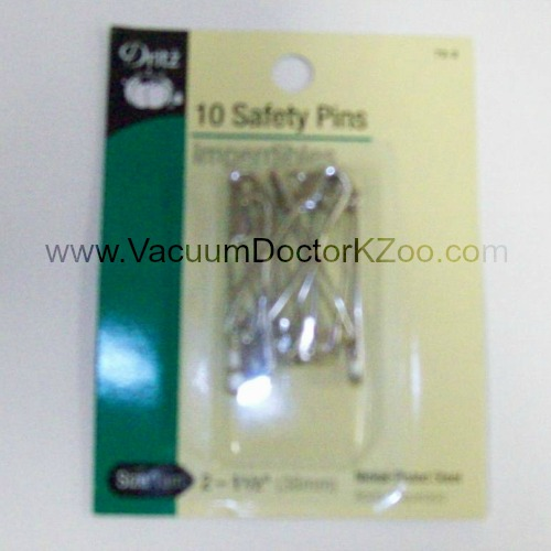 Safety Pins Nickel-plated brass Size 2 10pck