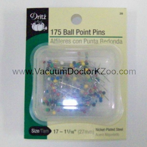 Color Ball Point Pins Nickel-plated steel Size 17 175/pkg