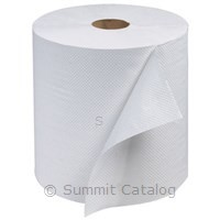 P/S ROLL TOWEL 800' WHITE 6/cs