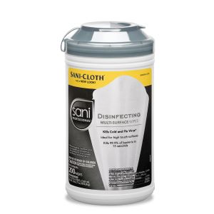 "Disinfectant Wipes 7-1/2"" x 5-3/8"" 200 Wipes/Canister"