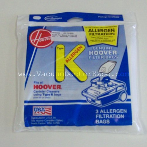 Hoover Bag Type K Allergen - 3 pck